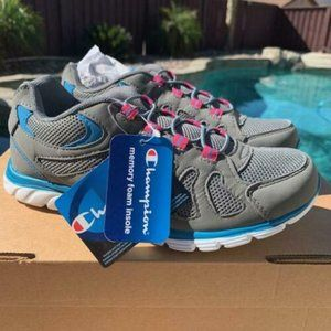 Champion Shoes - Champion Women's Grey/Blue Solstyce Slip-On
